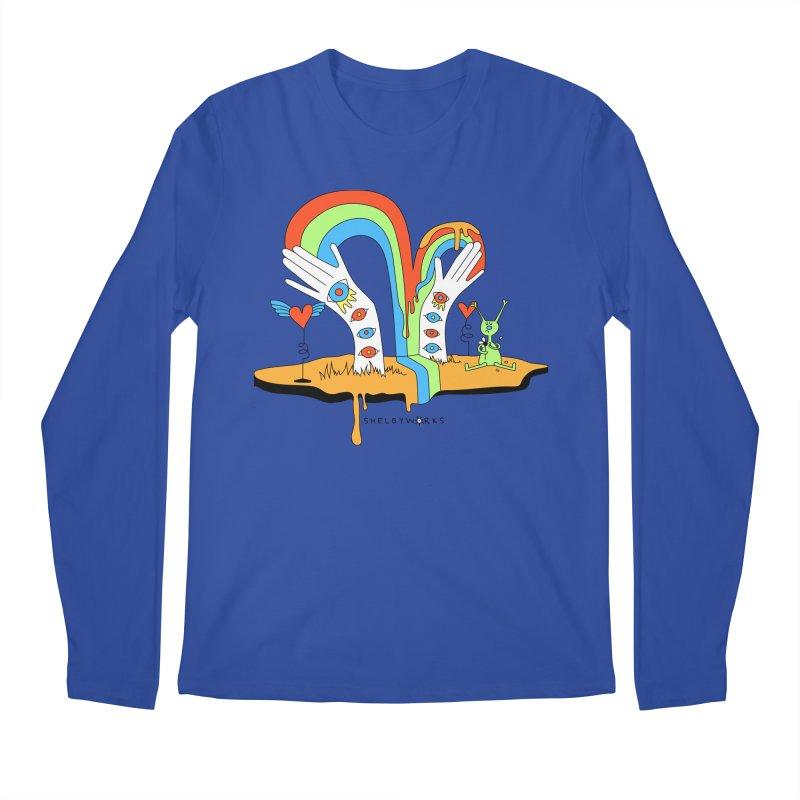 Alien Love Men's Regular Longsleeve T-Shirt by Shelby Works