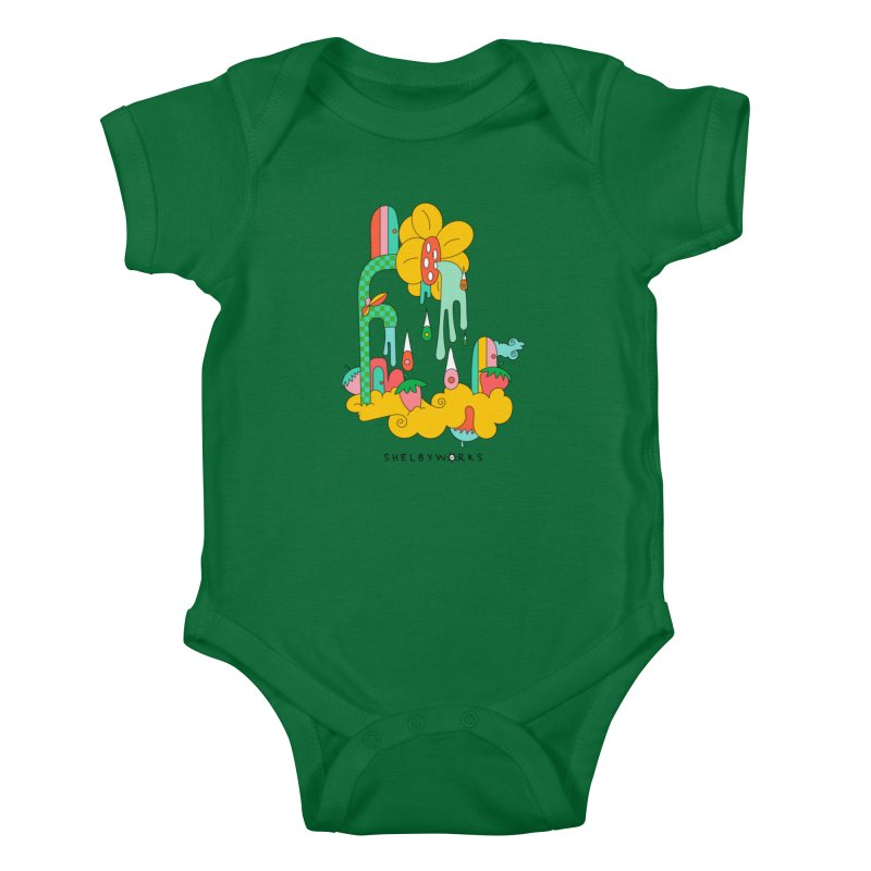 Flora Faucet Kids Baby Bodysuit by Shelby Works