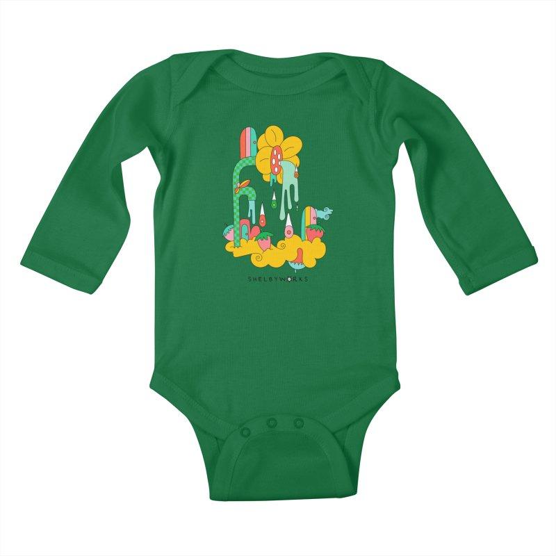 Flora Faucet Kids Baby Longsleeve Bodysuit by Shelby Works