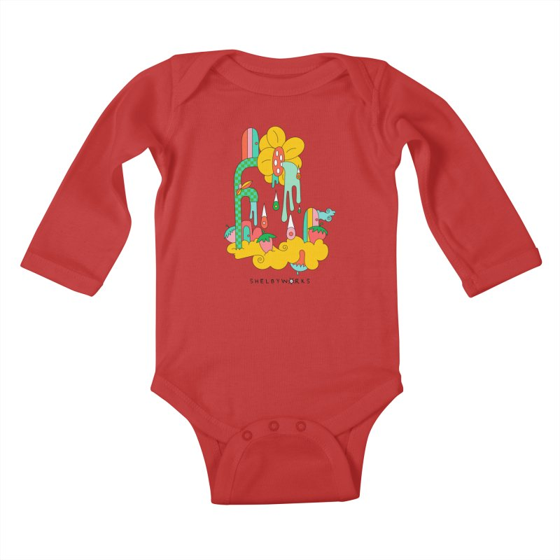 Flora Faucet Kids Baby Longsleeve Bodysuit by Shelby Works