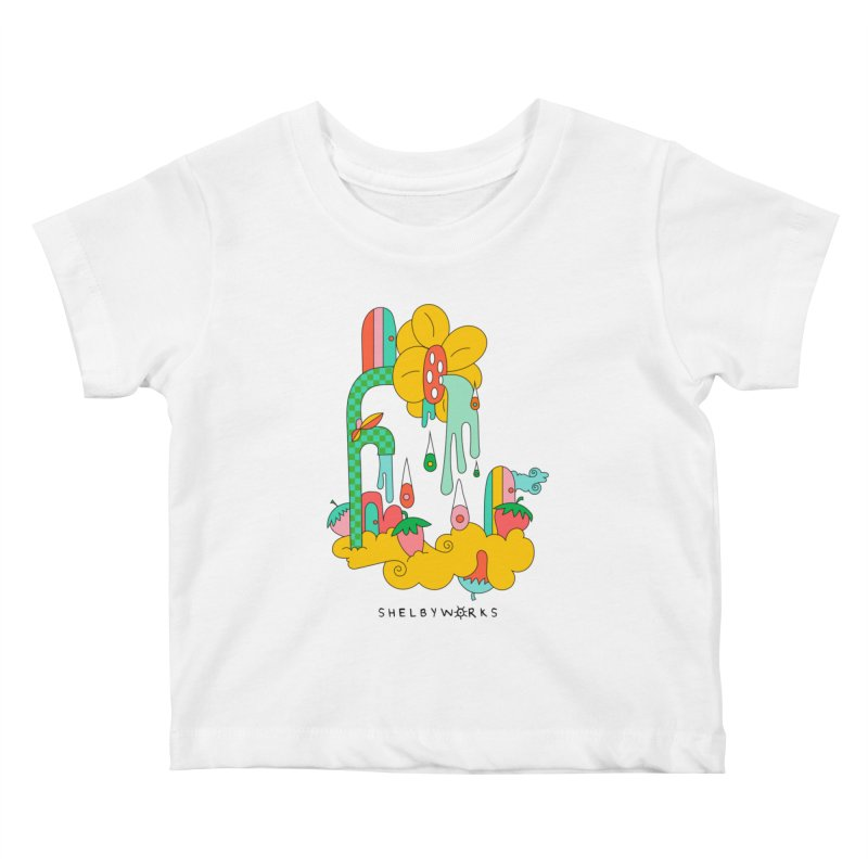 Flora Faucet Kids Baby T-Shirt by Shelby Works