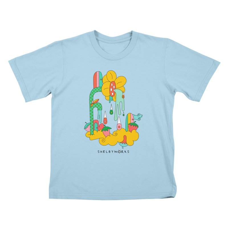Flora Faucet Kids T-Shirt by Shelby Works
