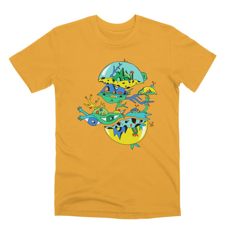 Apple Core Men's Premium T-Shirt by Shelby Works
