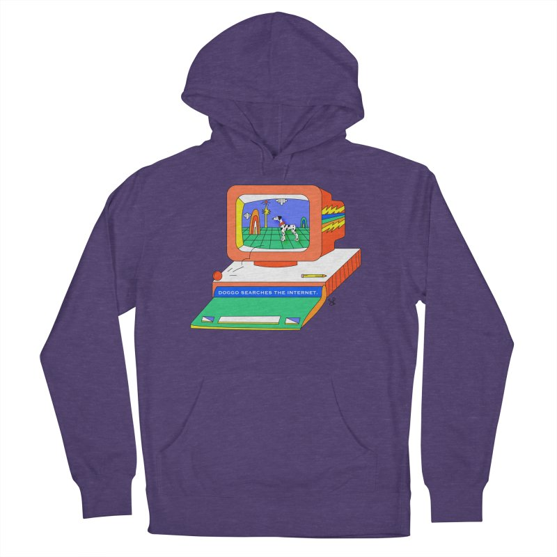 Doggo Searches the Internet Women's French Terry Pullover Hoody by Shelby Works