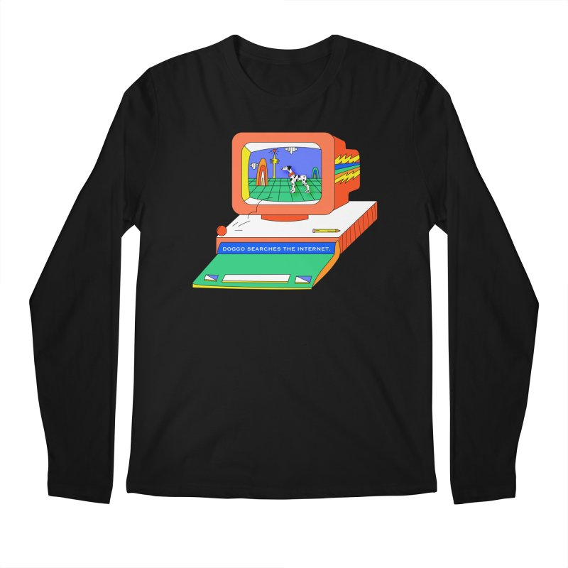 Doggo Searches the Internet Men's Regular Longsleeve T-Shirt by Shelby Works