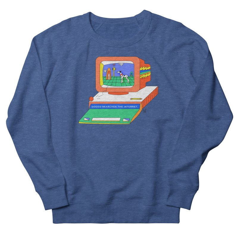 Doggo Searches the Internet Women's French Terry Sweatshirt by Shelby Works