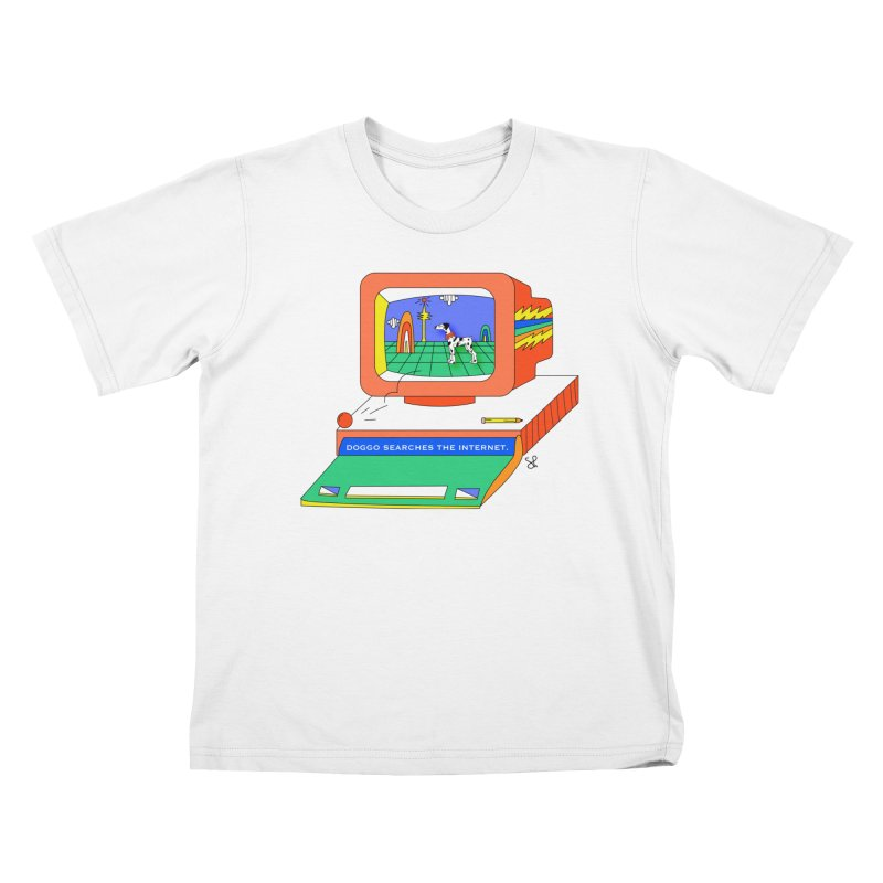 Doggo Searches the Internet Kids T-Shirt by Shelby Works