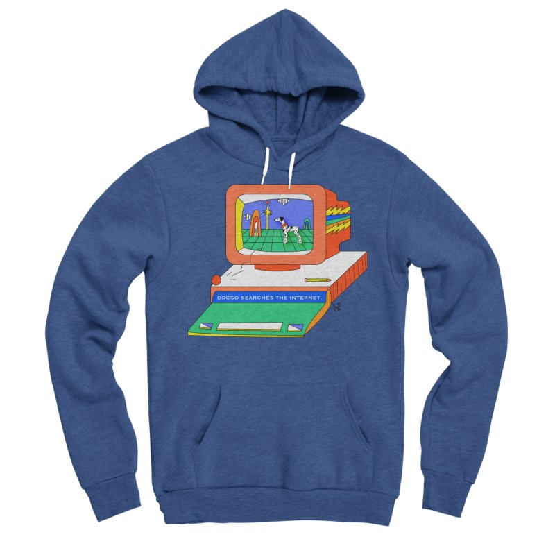 Doggo Searches the Internet Men's Sponge Fleece Pullover Hoody by Shelby Works