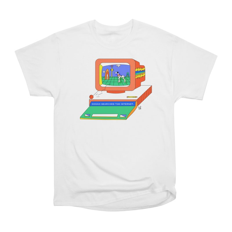 Doggo Searches the Internet Men's Heavyweight T-Shirt by Shelby Works
