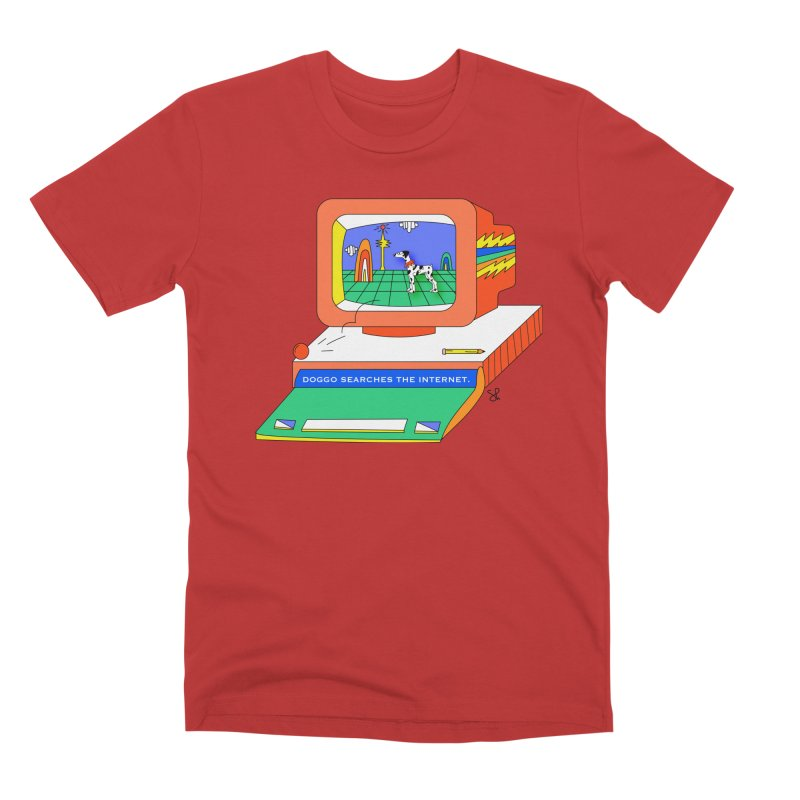 Doggo Searches the Internet Men's Premium T-Shirt by Shelby Works