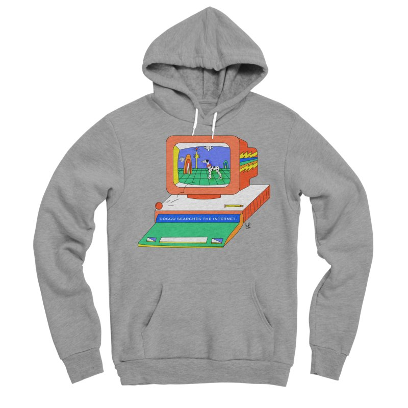 Doggo Searches the Internet Women's Sponge Fleece Pullover Hoody by Shelby Works
