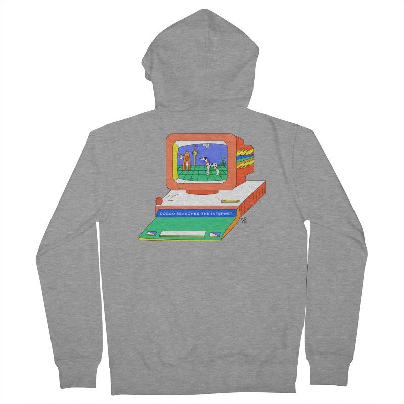 Doggo Searches the Internet Women's French Terry Zip-Up Hoody by Shelby Works