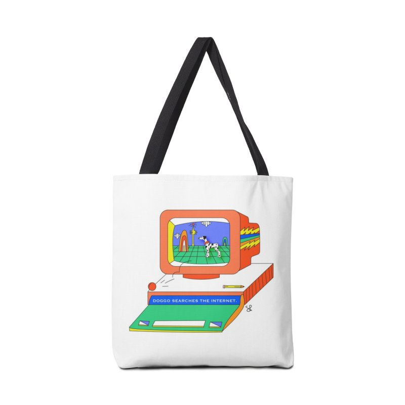 Doggo Searches the Internet Accessories Tote Bag Bag by Shelby Works