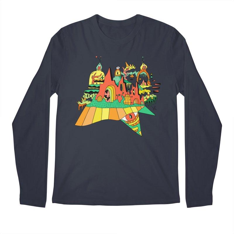 Burnt Orange Men's Regular Longsleeve T-Shirt by Shelby Works