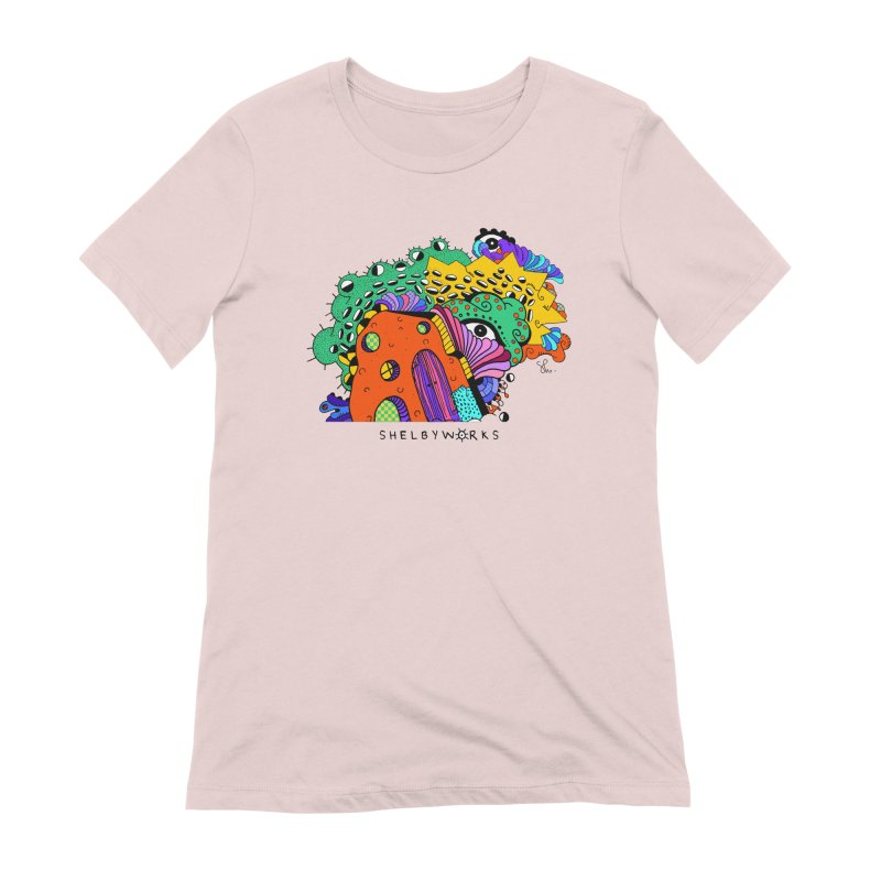 Amoeba Fun House Women's Extra Soft T-Shirt by Shelby Works