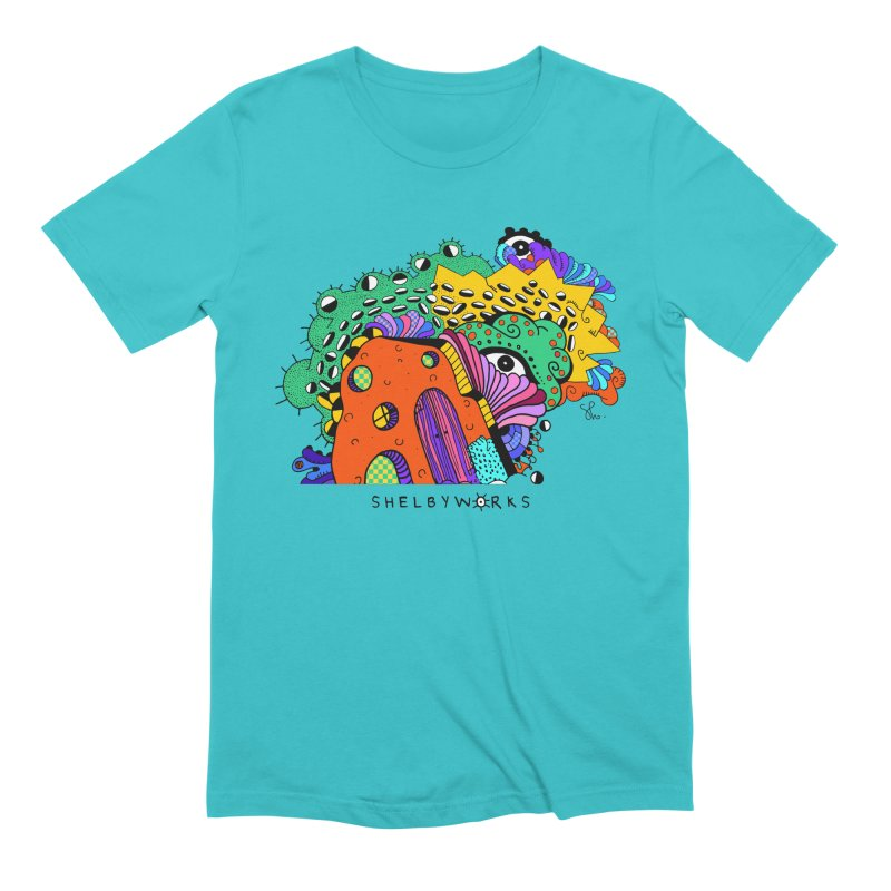 Amoeba Fun House Men's Extra Soft T-Shirt by Shelby Works