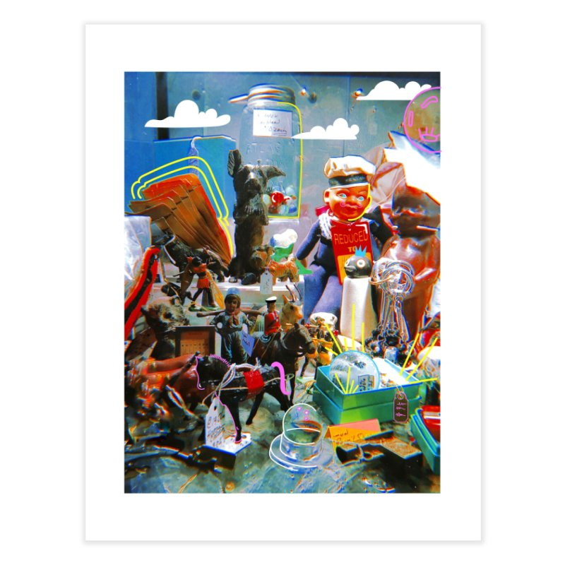 Doodled Toys Prints Home Fine Art Print by Shelby Works