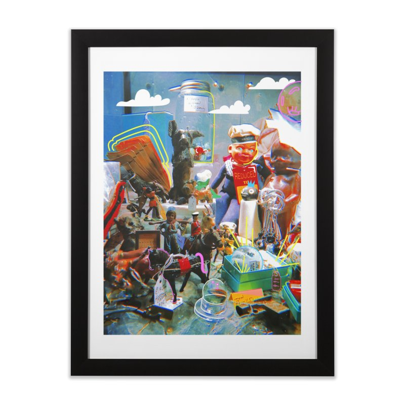 Doodled Toys Prints Home Framed Fine Art Print by Shelby Works