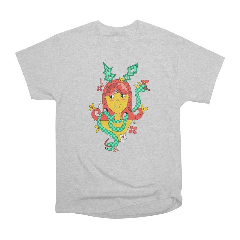Merry Medusa Women's Heavyweight Unisex T-Shirt by Shelby Works