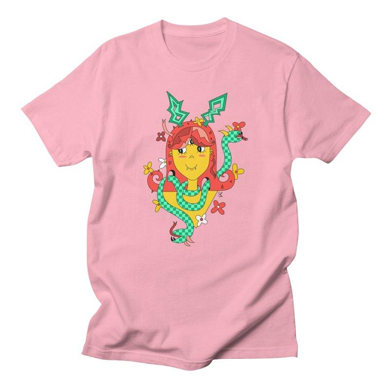 Merry Medusa Men's Regular T-Shirt by Shelby Works
