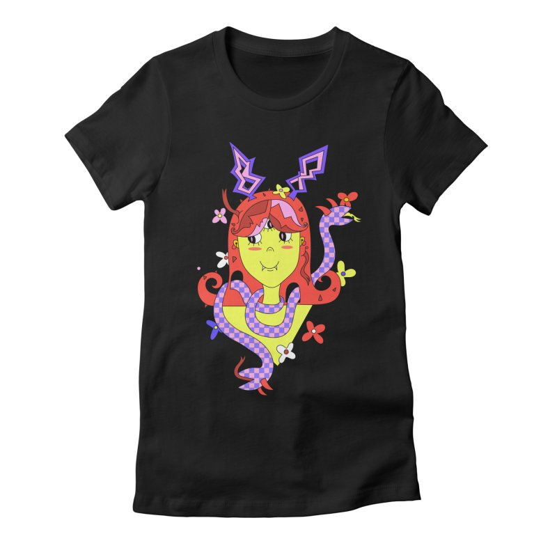 Violet Venom Women's Fitted T-Shirt by Shelby Works