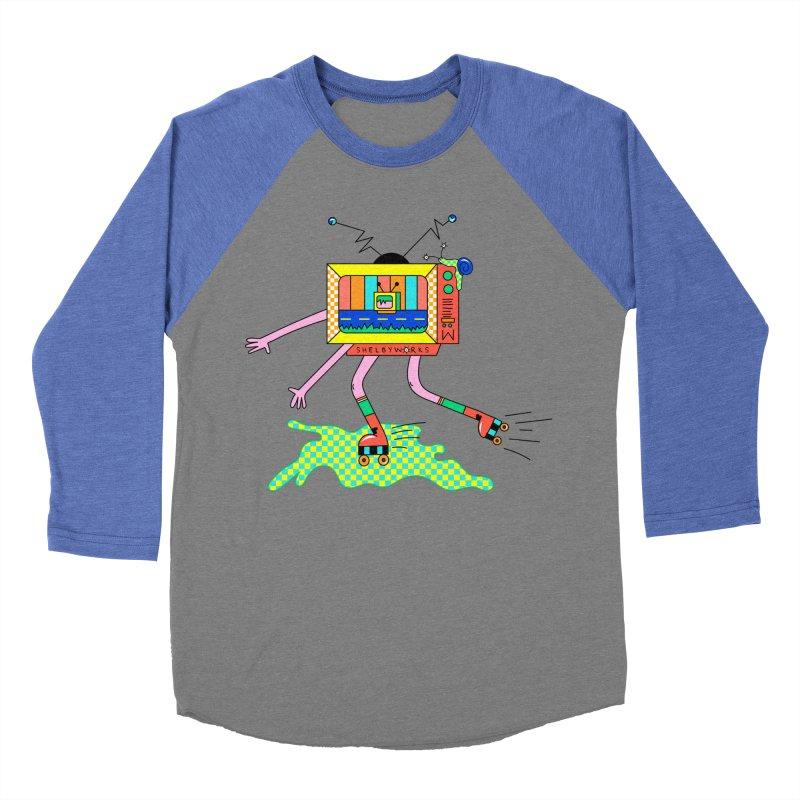 Slime Skates Women's Baseball Triblend Longsleeve T-Shirt by Shelby Works