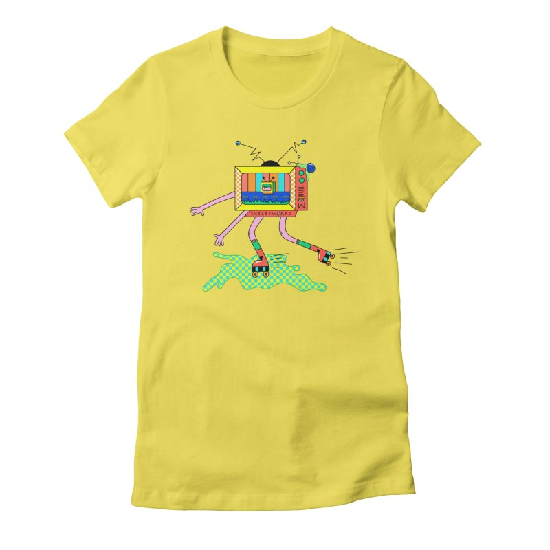 Slime Skates Women's Fitted T-Shirt by Shelby Works