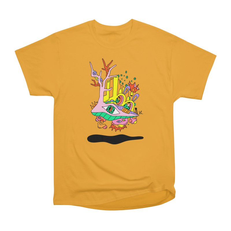 Bubble Town Men's Heavyweight T-Shirt by Shelby Works