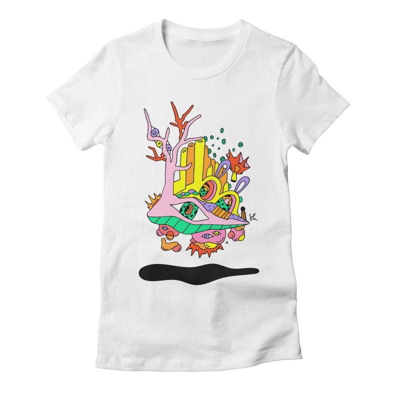 Bubble Town Women's Fitted T-Shirt by Shelby Works