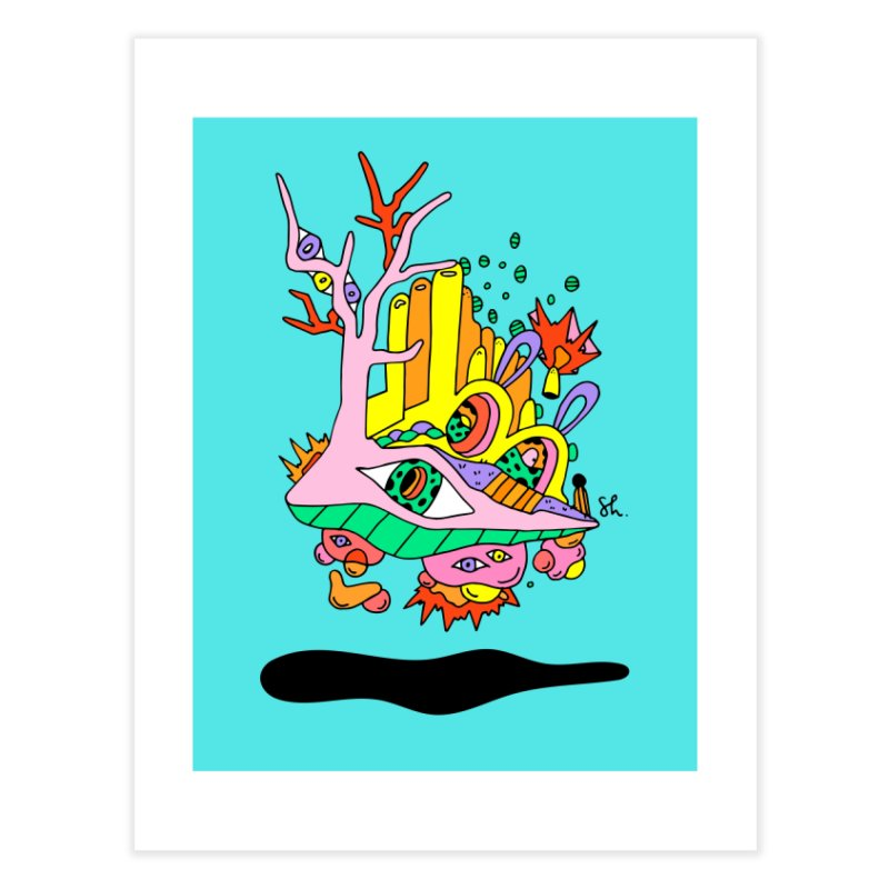 Bubble Town Home Fine Art Print by Shelby Works