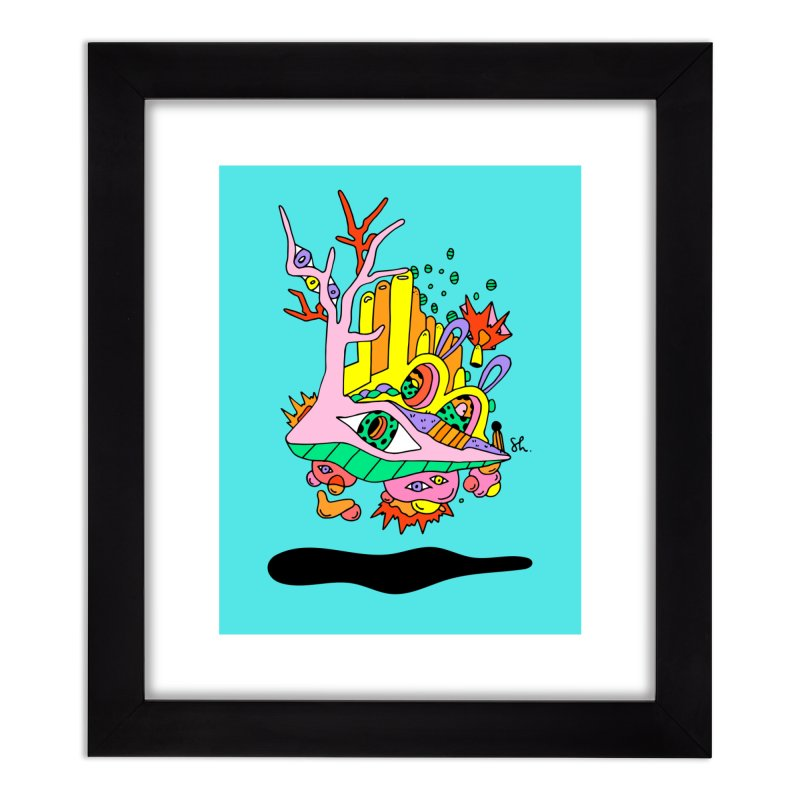 Bubble Town Home Framed Fine Art Print by Shelby Works