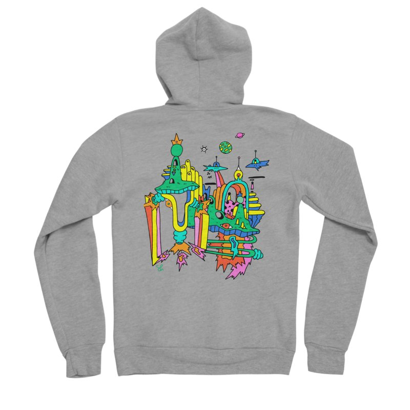 City of Color Men's Sponge Fleece Zip-Up Hoody by Shelby Works