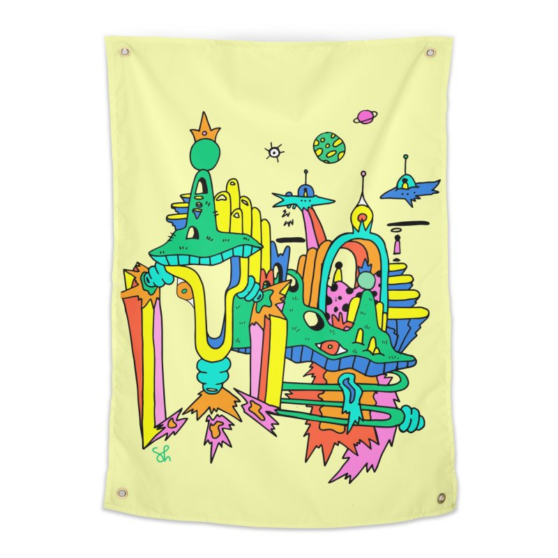 City of Color Home Tapestry by Shelby Works