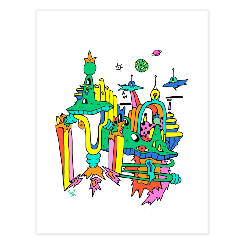 City of Color Home Fine Art Print by Shelby Works