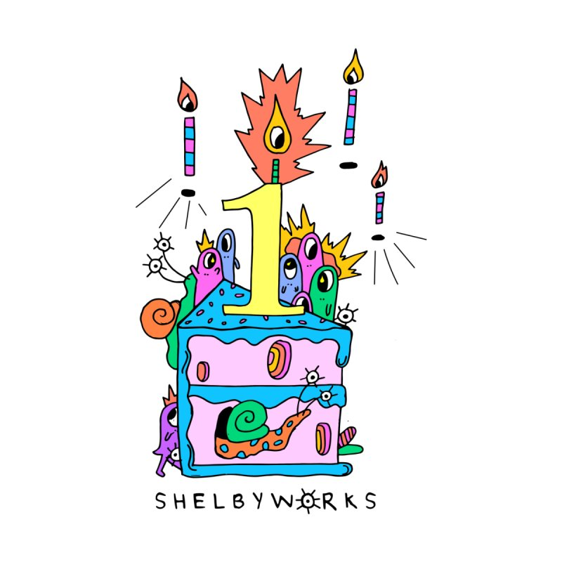 Shelby Work's 1st Birthday Men's T-Shirt by Shelby Works
