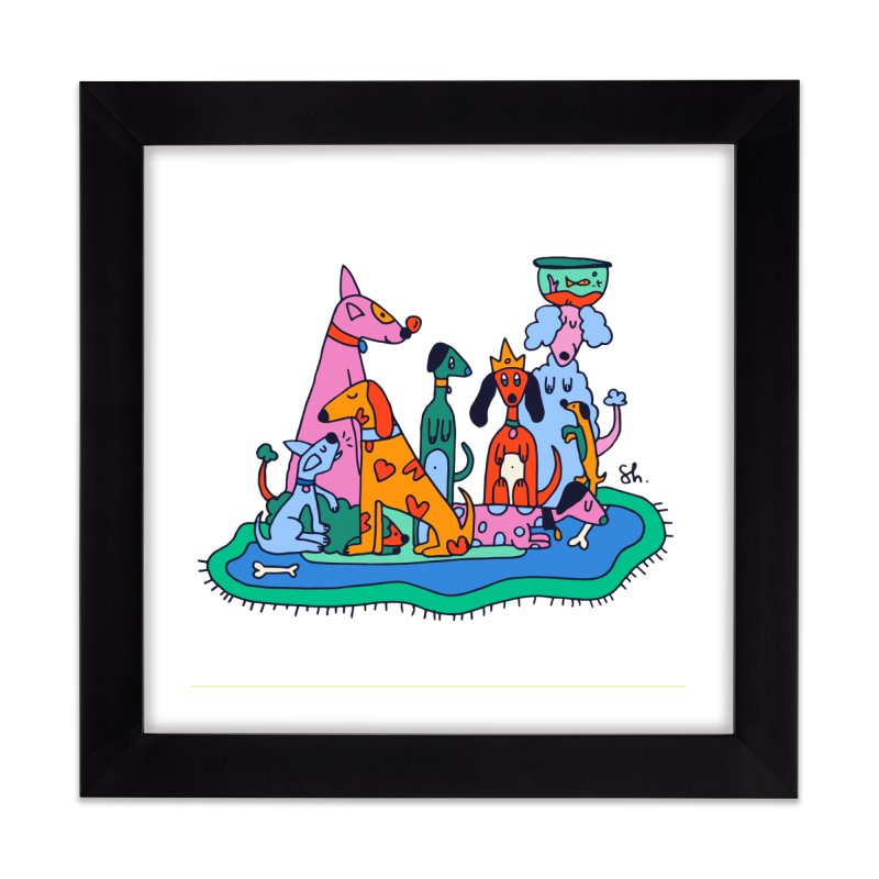 Picture Day Home Framed Fine Art Print by Shelby Works