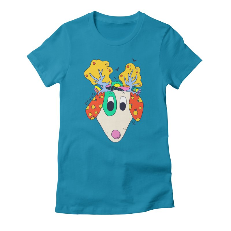 Doggo's Garden Women's Fitted T-Shirt by Shelby Works