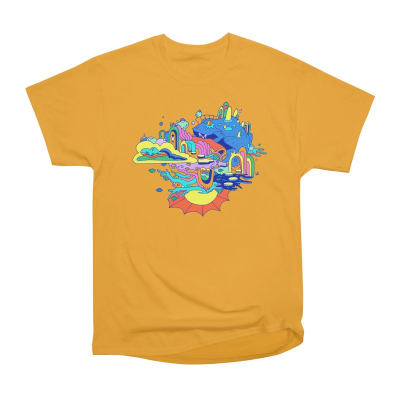 Frog's Palace Men's Heavyweight T-Shirt by Shelby Works