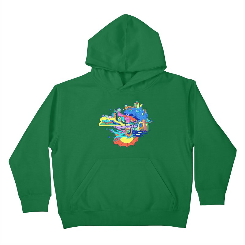 Frog's Palace Kids Pullover Hoody by Shelby Works