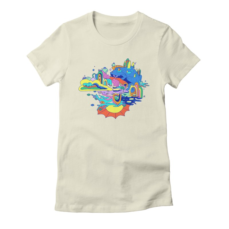 Frog's Palace Women's Fitted T-Shirt by Shelby Works