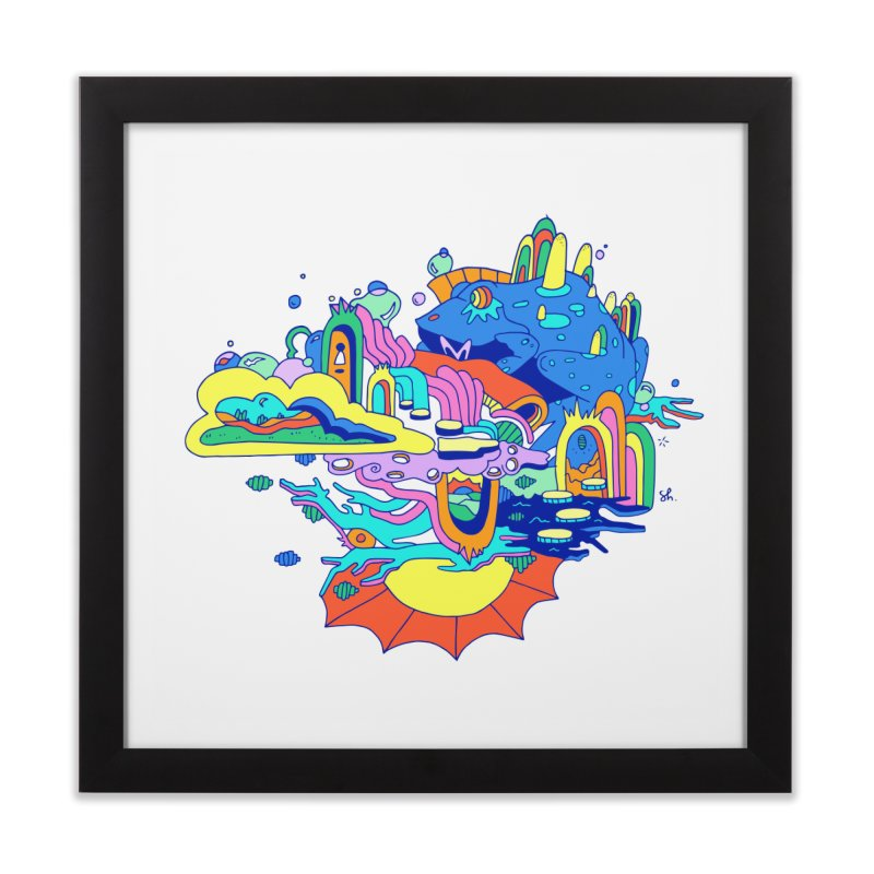 Frog's Palace Home Framed Fine Art Print by Shelby Works