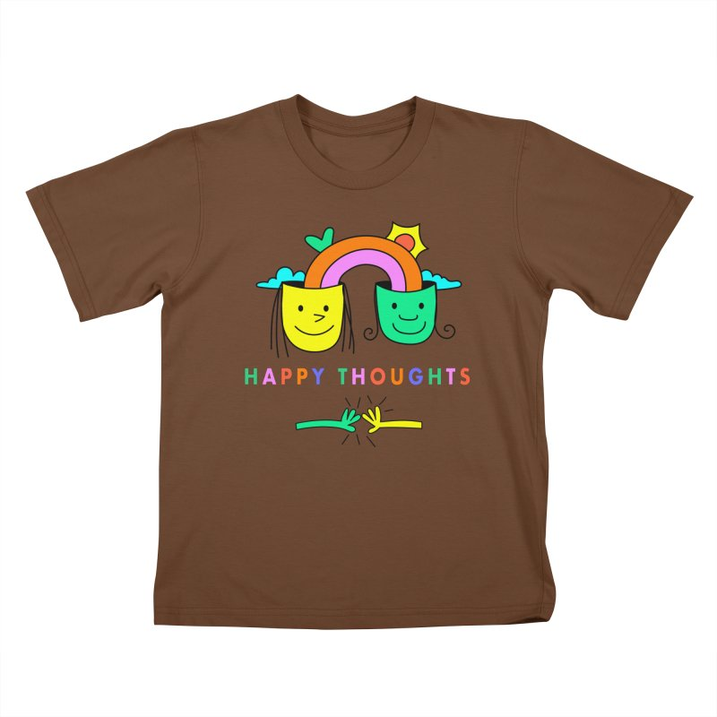 Think Happy thoughts Kids T-Shirt by Shelby Works