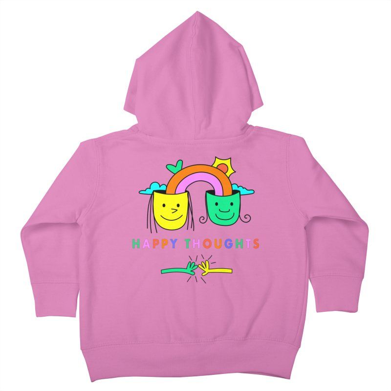 Think Happy thoughts Kids Toddler Zip-Up Hoody by Shelby Works