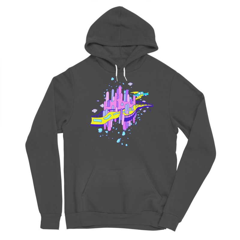 Phoebe the Flying Car Men's Sponge Fleece Pullover Hoody by Shelby Works