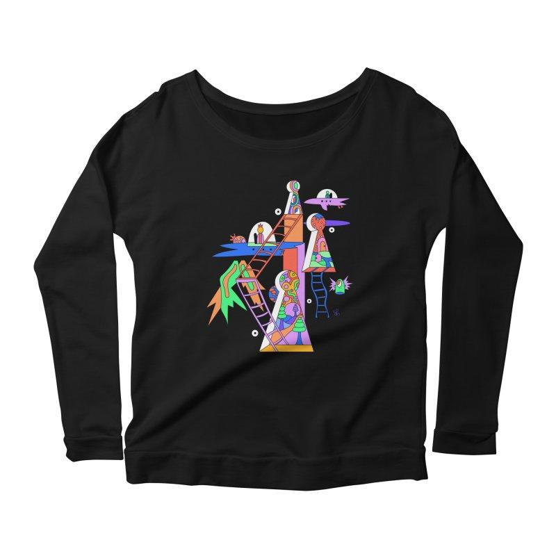 Key Holes Women's Scoop Neck Longsleeve T-Shirt by Shelby Works
