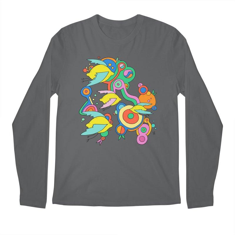 Lemon Soda Men's Longsleeve T-Shirt by Shelby Works