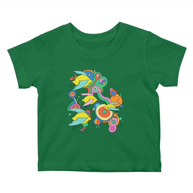 Lemon Soda Kids Baby T-Shirt by Shelby Works