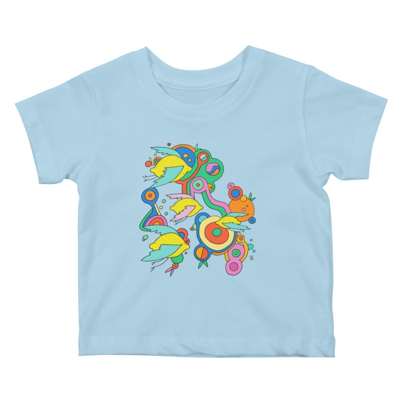 Lemon Soda Kids Baby T-Shirt by Shelby Works