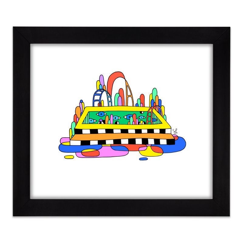 Pool of Visions Home Framed Fine Art Print by Shelby Works