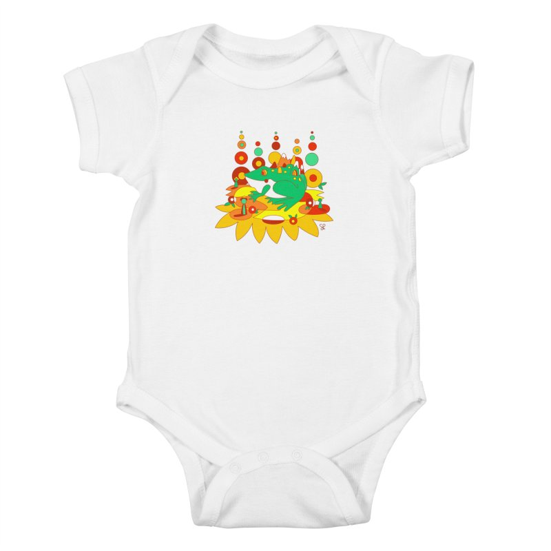 Hitch Hikers Kids Baby Bodysuit by Shelby Works